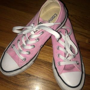 Pink all star converse (worn once)